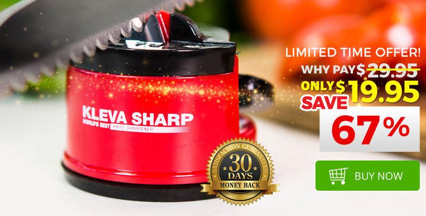 The original Kleva Sharp Knife Sharpener – replace the edge on your knives!